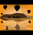 Balloons in Cappadocia at dawn sky background vector image vector image