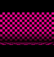 black and pink checkered abstract cosmic vector image