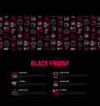 black friday sale concept with thin line icons vector image vector image