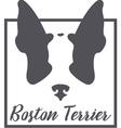 Boston Terrier Silhouette Logo Concept vector image