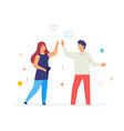 boy and girl success emotions flat vector image