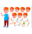 boy child kid teen casual clothes vector image vector image