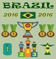 Brazil 2016 sport infographics Digital image vector image vector image