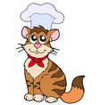 cartoon cat chef vector image