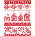 christmas festive pattern in cross stitch vector image vector image