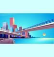 city street buildings skyline view vector image vector image