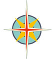 compass rose with north south east and west vector image vector image