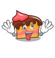 crazy sponge cake mascot cartoon vector image vector image