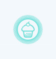 cupcake icon sign symbol vector image