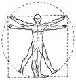 doodle davinci man vector image vector image