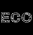 eco text in polygonal mesh style vector image