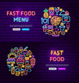 fast food website banners vector image