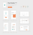 Flat Mobile UI kit vector image vector image