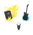 flat music symbol guitar amplifier rock vector image vector image