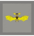 flat shading style icon cute bat vector image vector image