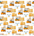 forklift car full of box flying drone pattern vector image vector image