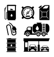 Gas station icons vector image vector image