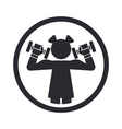 Girl gym icon vector | Price: 1 Credit (USD $1)