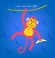 Happy New Year Monkey year concept 2016 vector image