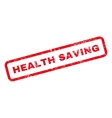 Health Saving Text Rubber Stamp vector image vector image