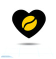 heart black icon a symbol of love coffee vector image vector image