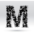 Letter M formed by inkblots vector image vector image