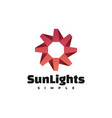 logo sun lights gradient colorful style vector image