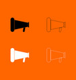 loud speaker or megaphone black and white set vector image