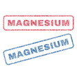magnesium textile stamps vector image vector image