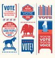 motivational messages to encourage voting vector image vector image