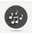 Music notes sign icon Musical symbol vector image vector image