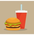organic food menu icons vector image vector image