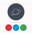 Planet icon World globe sign vector image