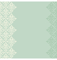 seamless turquoise frameborder in damask baroque vector image vector image