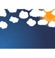 set different cloud and sun vector image vector image
