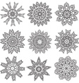 Set Hand drawing zentangle mandala elements vector image vector image