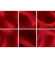 set of abstract red neon backgrounds vector image