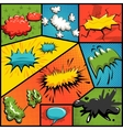set of comics explosion bubbles vector image vector image