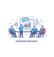 set of concept with businessmen vector image