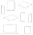 Set of electronic devices vector image vector image