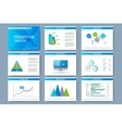 Set of templates for presentation slides vector image vector image