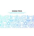 shana tova concept vector image vector image