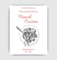 sketch - escargot card menu vector image vector image