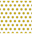 smile background seamless pattern happy face vector image vector image