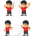 soccer boy customizable mascot 19 vector image vector image