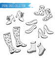 spring shoes collection vector image vector image