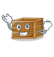 successful crate character cartoon style vector image vector image