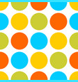 tile pattern with colorful pastel dots on white vector image vector image