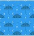 umbrella and rain drops seamless pattern vector image