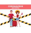 vacation season cancellation coronavirus novel vector image vector image